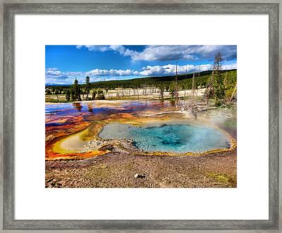 Colors Of Yellowstone National Park Framed Print