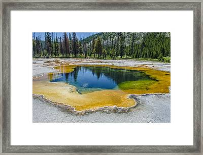 Colors Of Yellowstone Framed Print