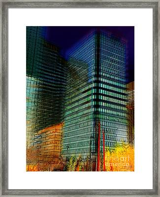 Framed Print featuring the digital art Colors by Stuart Turnbull