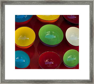 Colors Tray Framed Print