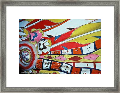 Colors Of Junkanoo Framed Print by Winston D Munnings