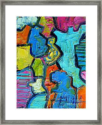Colorscape #07 - Puzzled Framed Print by Mona Edulesco