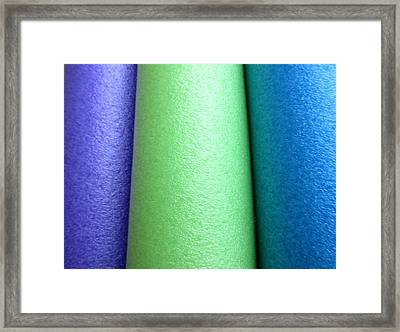 Colorscape Tubes A Framed Print