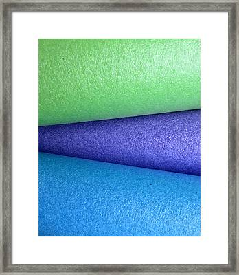 Colorscape Tubes B Framed Print