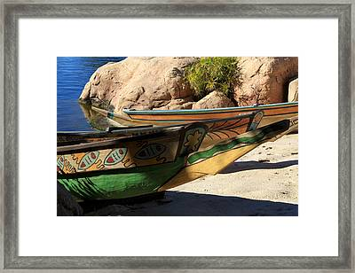 Colorul Canoe Framed Print by Chris Thomas
