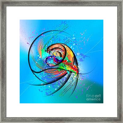 Colorwave Framed Print