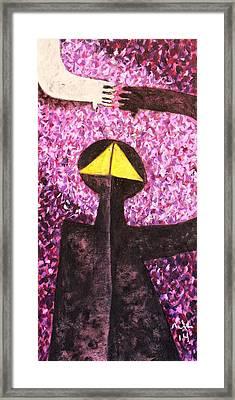Colos Violet Positive Negative Framed Print