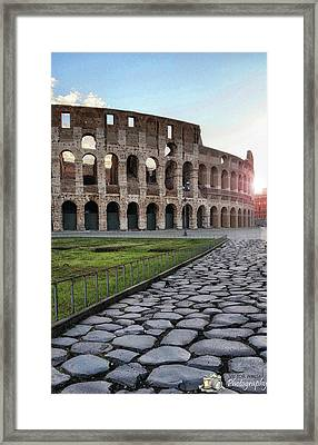 Coloseum Sunrise Framed Print by Victor Walsh Photography