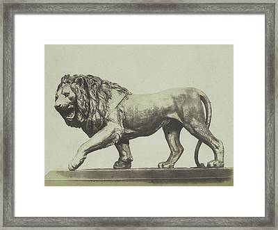 Colossal Bronze Lion. Miller Framed Print by Artokoloro