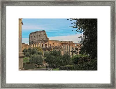 Colosseum Afar Framed Print