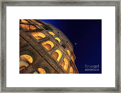 Colosseum At Night Framed Print by Stefano Senise