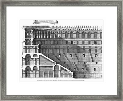 Colosseum: Cross-section Framed Print by Granger