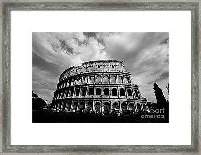 Colosseum In Black And White Framed Print by Samantha Higgs