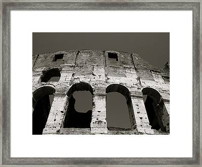 Colosseum Framed Print by Kathy Ponce
