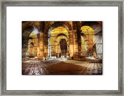 Colosseum Lights Framed Print by Stefano Senise