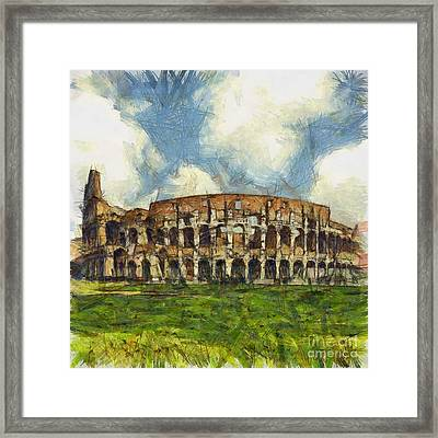 Colosseum Pencil Framed Print by Sophie McAulay