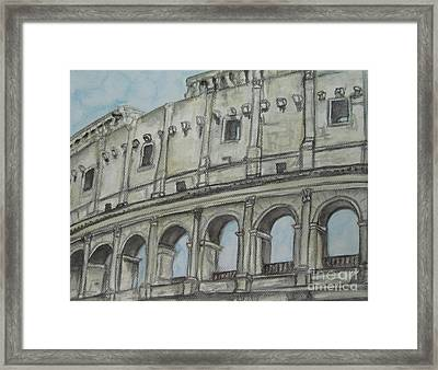 Colosseum Rome Italy Framed Print by Malinda  Prudhomme