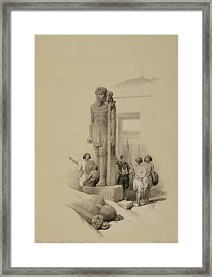 Colossus In Front Of The Temple Of Wady Sabona, Ethiopia  Framed Print