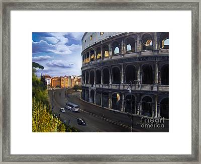Colossus Framed Print by Leah Wiedemer