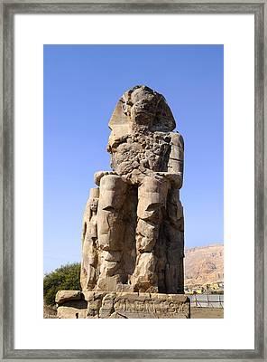 Colossus Of Memnon Egypt Framed Print by Brenda Kean