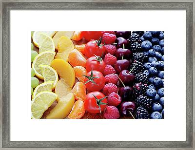 Colouful Selection Of Fruit Framed Print