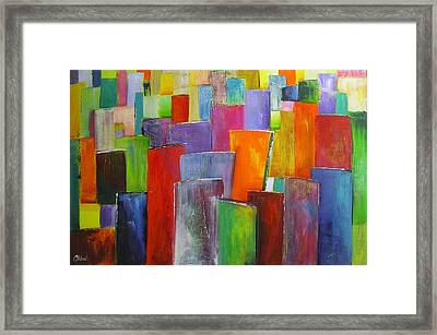 Colour Block 3 Painting Framed Print