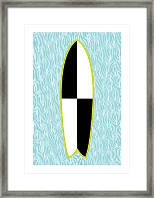 Colour Block Surfboard Framed Print by Susan Claire