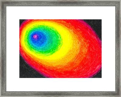 Colour In The Dark Framed Print