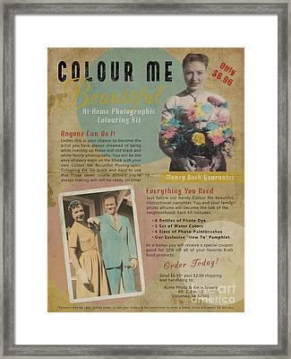Colour Me Beautiful 1950s Print Ad Framed Print by Nola Lee Kelsey