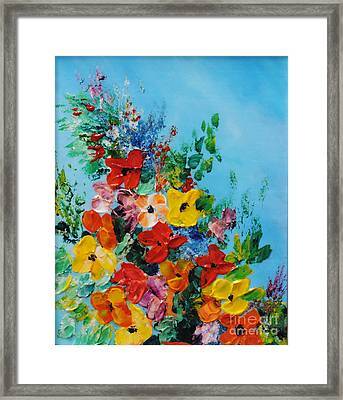 Colour Of Spring Framed Print by Teresa Wegrzyn