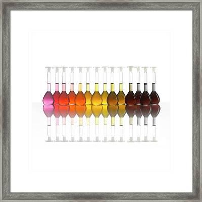 Colour Range Of Universal Indicator Framed Print