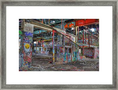 Coloured Dereliction Framed Print by David Birchall