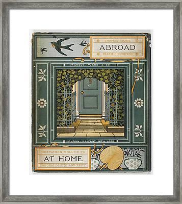 Coloured Illustration Showing A Door Framed Print