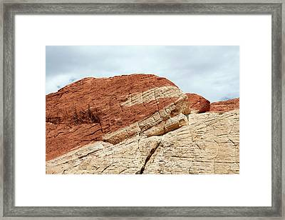 Coloured Sandstone Framed Print by Michael Szoenyi