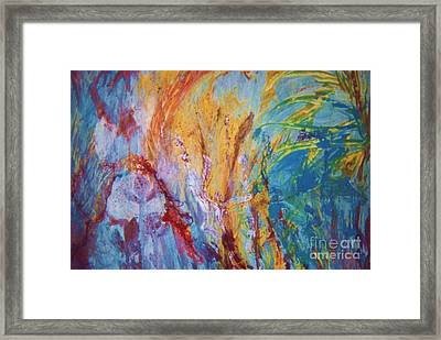 Colourful Abstract Framed Print by Ann Fellows