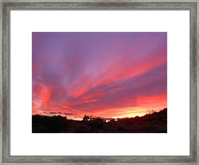 Colourful Arizona Sunset Framed Print