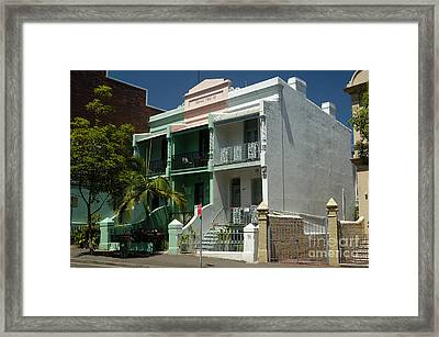 Colourful Australian Terrace House Framed Print