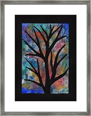 Colourful Autumn Maple Framed Print by Barbara St Jean
