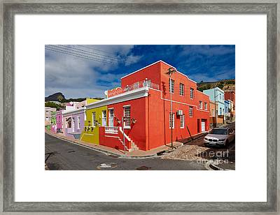 colourful buildings in Bo-Kaap Framed Print by Juergen Ritterbach