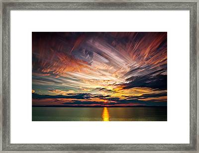 Colourful Cloud Collision Framed Print
