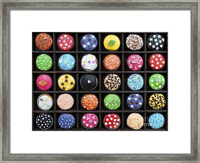 Colourful Cupcakes  Framed Print