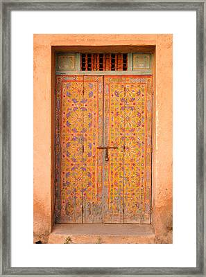 Colourful Entrance Door Sale Rabat Morocco Framed Print by Ralph A  Ledergerber-Photography