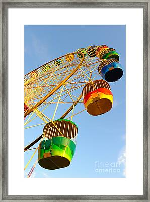 Colourful Ferris Wheel Framed Print