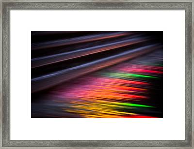 Colourful Fountain Abstract Framed Print by Izzy Standbridge