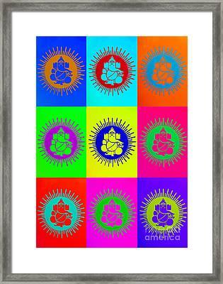 Colourful Ganesha Framed Print by Tim Gainey