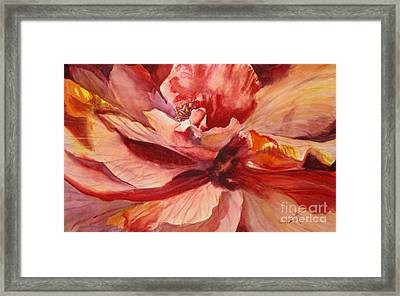 Colourful Hibiscus Framed Print