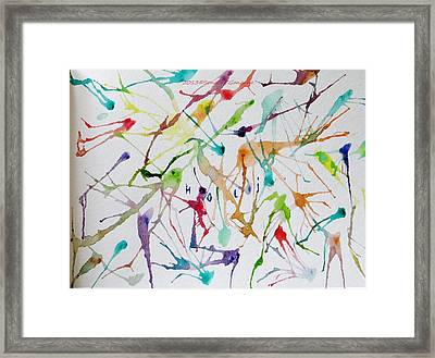 Colourful Holi Framed Print