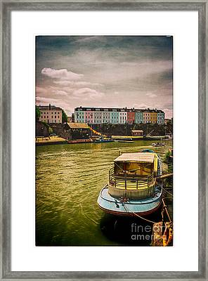 Colourful Houses Of Bristol Radcliffe Parade Framed Print