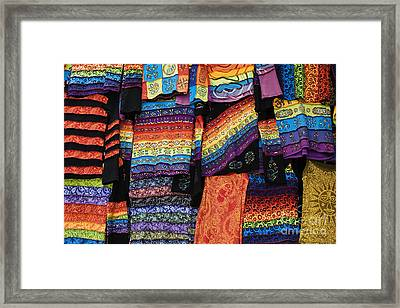Colourful Indian Clothes Framed Print by Tim Gainey