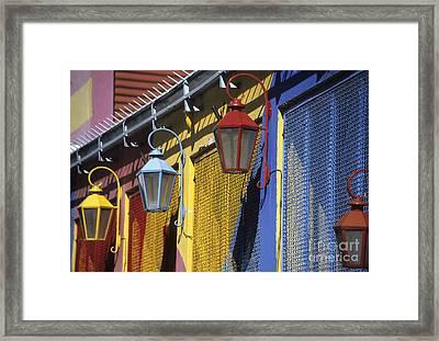 Colourful Lamps La Boca Buenos Aires Framed Print by James Brunker